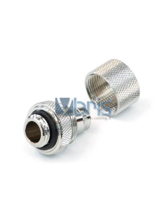 Raccordo a compressione 1/4G tubo 10/13 mm Silver Nickel Phobya - 3