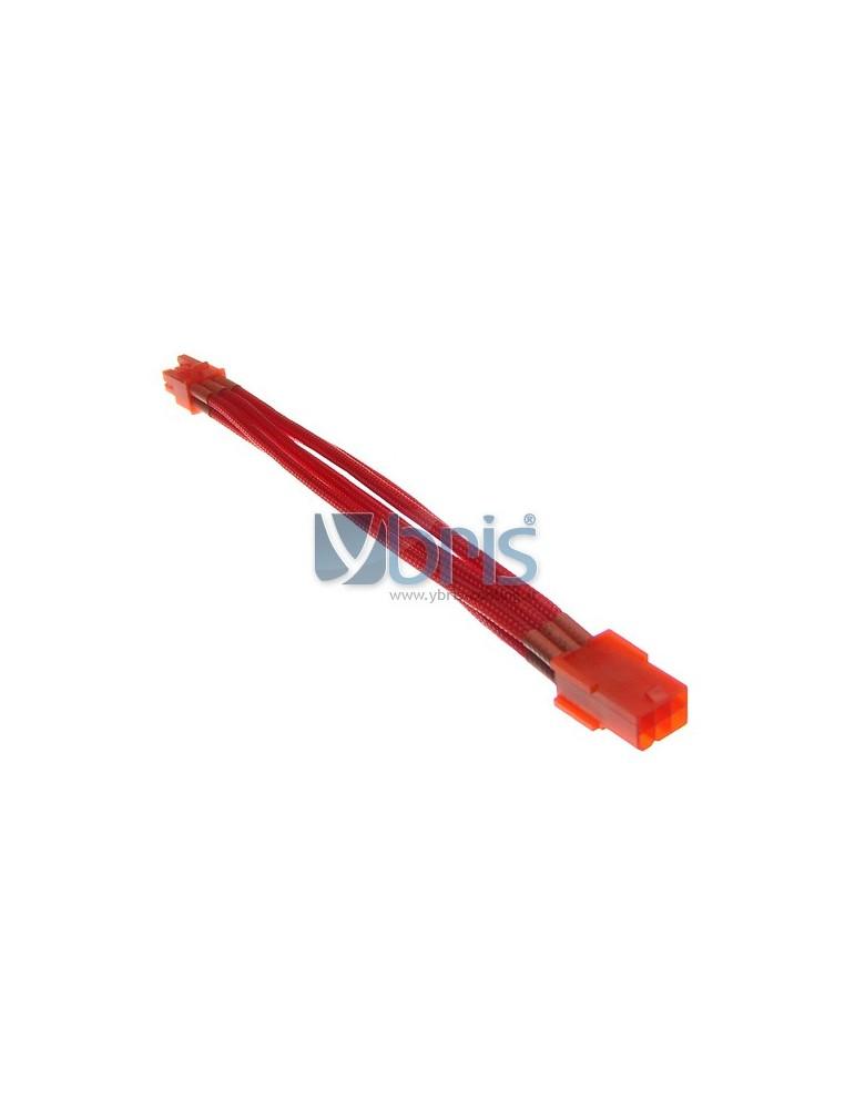 mod/smart Kobra SS 6pin PCI-E Extension - UV Red - 20cm