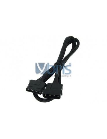 Phobya 4Pin Molex power extension 60 cm - black
