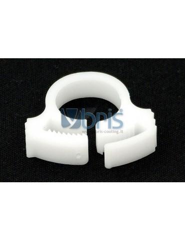 hose clamp 15 - 17mm plastics White