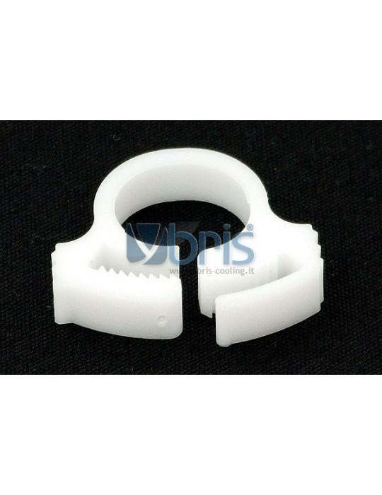 hose clamp 15 - 17mm plastics White Phobya - 1