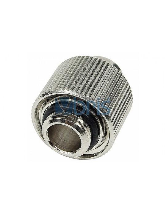 Raccordo compressione 1/4G Tubo 13/16 Silver Nikel Compact Phobya - 2