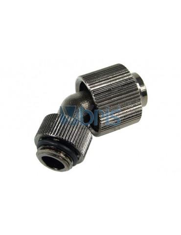 Raccordo compressione 1/4G curva 45° Tubo 13/16 Black Nikel