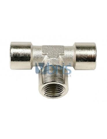 Raccordo a T F/F/F 1/4G silver nikel