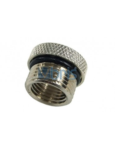 Riduzione M/F da 3/8G a 1/4G zigrinata Silver Nikel
