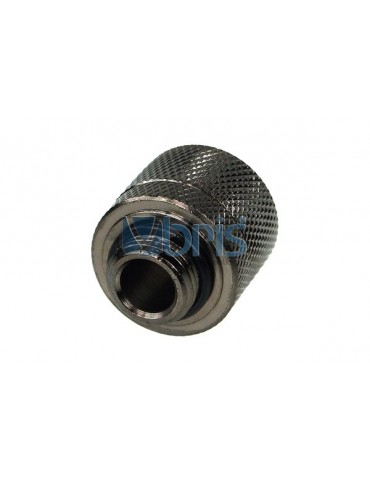 Raccordo Compressione 1/4G tubo 10/16mm black nickel
