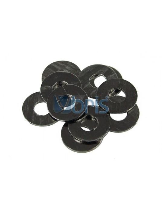 Kit rondelle M3 Alluminio Black Phobya - 1