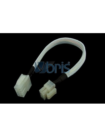 Phobya extension 8-Pin or EPS12V 30cm - White