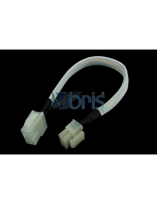 Phobya extension 8-Pin or EPS12V 30cm - White Phobya - 1