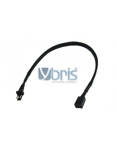 Phobya extension 3Pin Molex 30cm - black