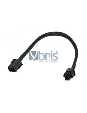 Phobya 6PIN ATX PSU extension  30cm - black