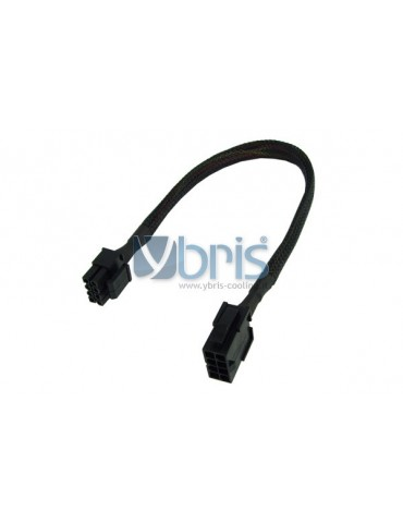 Phobya extension 8-Pin or EPS12V 30cm - black