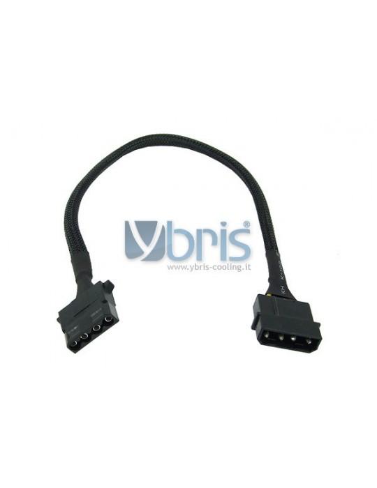 Phobya 4Pin Molex power extension 30cm - black Phobya - 1