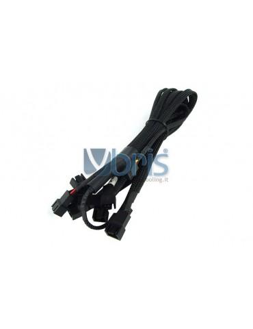 Phobya Y-Cable 3Pin Molex to 9x 3Pin Molex 60cm - BLACK