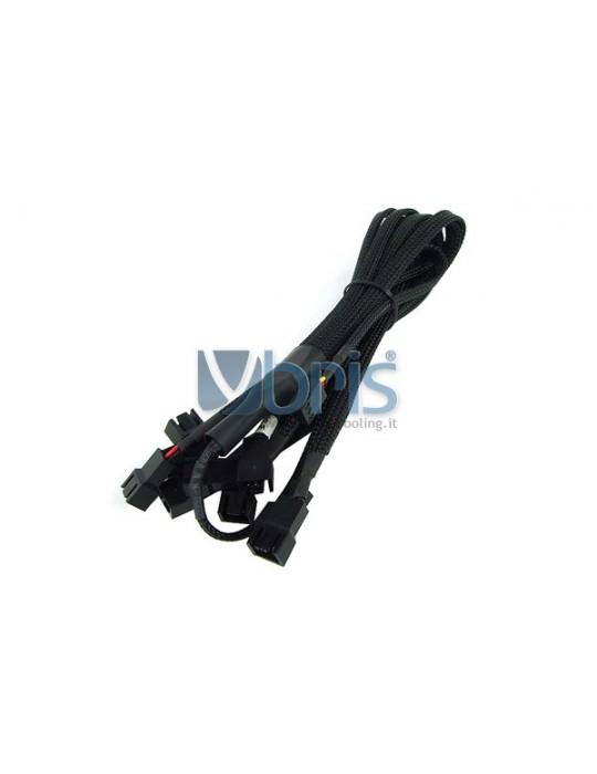 Phobya Y-Cable 3Pin Molex to 9x 3Pin Molex 60cm - BLACK Phobya - 1
