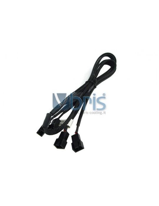 Phobya Y-cable 3Pin Molex to 4x 3Pin Molex 60cm - BLACK Phobya - 1