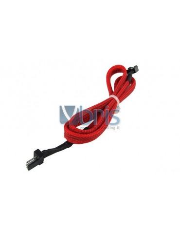 Phobya extension 3Pin Molex extra long 60cm - UV red