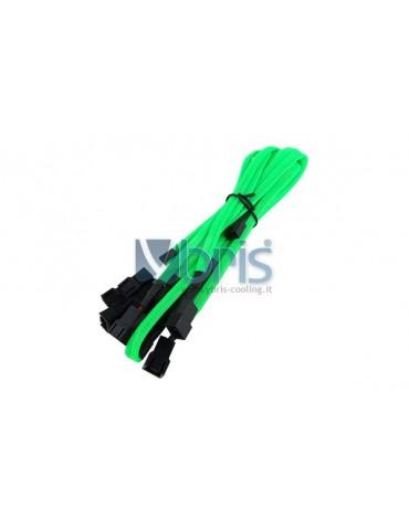 Phobya Y-Cable 3Pin Molex to 9x 3Pin Molex 60cm - UV green
