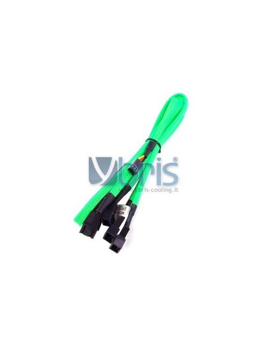 Phobya Y-Cable 3Pin Molex to 6x 3Pin Molex 60cm - UV green Phobya - 1