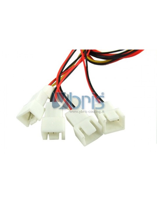 Y-cable 3Pin Molex to 4x 3Pin Ybris-Cooling - 3