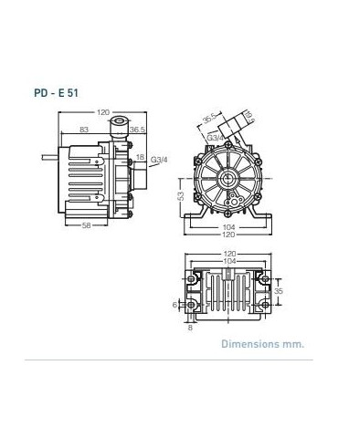 Sanso PD-E51 IT6 24V Attacchi filettati