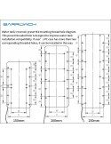 BARROWCH Vaschetta Boxfish FBRE1-200Y RGB con sensore di temperatura