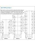BARROWCH Vaschetta Boxfish FBRE1-250Y RGB con sensore di temperatura