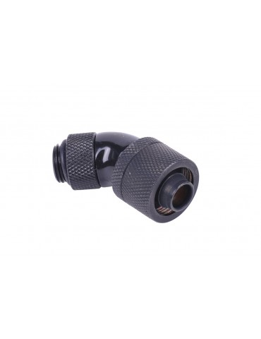 Alphacool 16/10 compression fitting 45° revolvable G1/4'' - Black