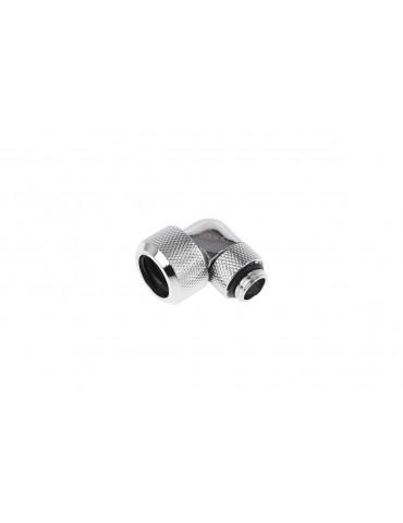 Alphacool Eiszapfen Raccordo 90° Ruotabile per tubo rigido 13/16 mm - Chrome