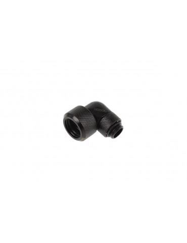 Alphacool Eiszapfen Raccordo 90° Ruotabile per tubo rigido 13/16 mm - Deep Black