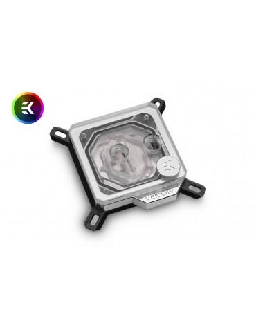 EK-Velocity - Intel - D-RGB Nickel + Plexi