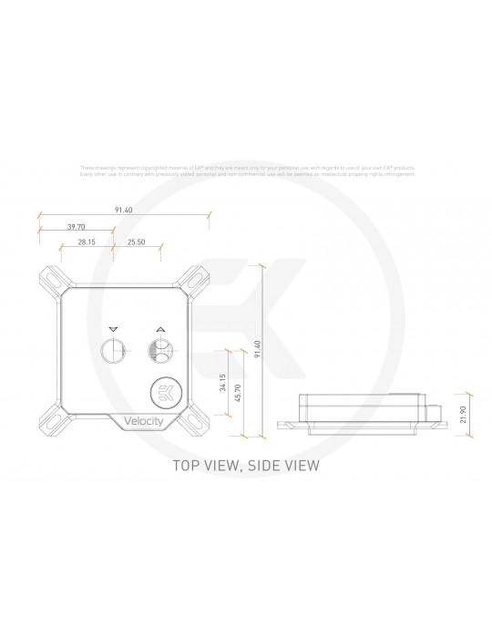 EK-Velocity - Intel - D-RGB Nickel + Plexi EKWB - 8