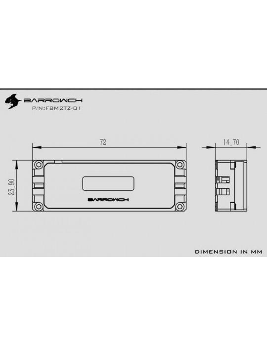 Barrowch dissipatore per dischi M.2 2280 / 22110 con display temperatura OLED FBM2TZ-01 BARROWCH - 3