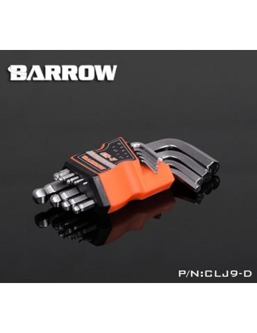 Barrow Kit 9 Chiavi Esagonali ad angolo 1.5/2/2.5/3/4/5/6/8/10mm