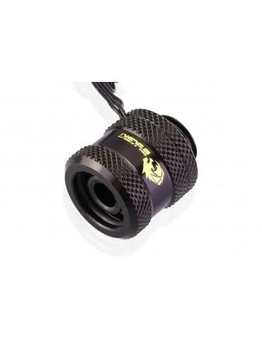 Bykski Raccordo a compressione per tubo rigido 10/14 con LED RGB - Black B-LTJT-X-RGB-BK