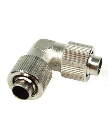 Connettore a compressione a L  tubo 10/13 mm Silver Nickel Compact