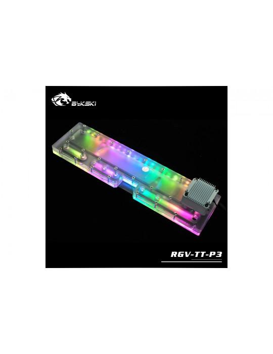 Bykski RGV-TT-P3 Distribution Plate Thermaltake P3 Distro Plate - RGW 5V Bykski - 9