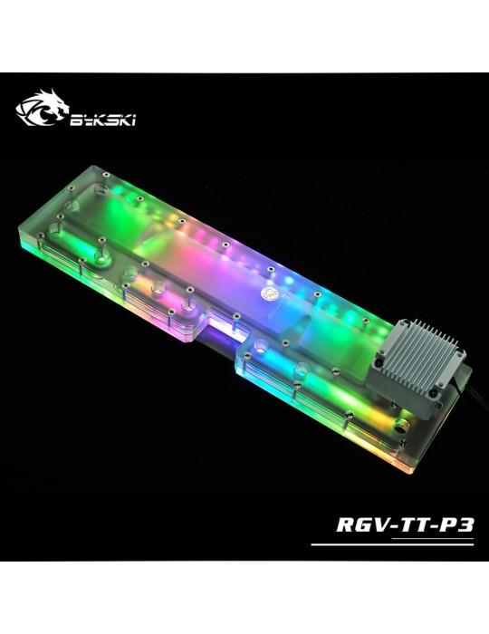 Bykski RGV-TT-P3 Distribution Plate Thermaltake P3 Distro Plate - RGW 5V Bykski - 2
