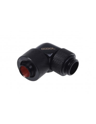 Alphacool 13/10mm  compression fitting 90° ruotabile G1/4 Deep Black
