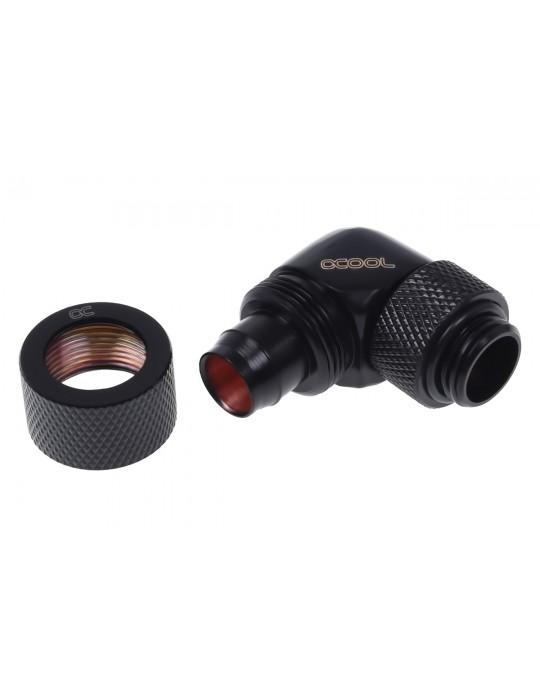 Alphacool 13/10mm  compression fitting 90° ruotabile G1/4 Deep Black Alphacool - 2