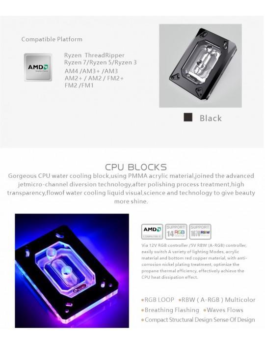 Bykski Waterblock AMD - CPU-RAY-MC-M  D-RGB Bykski - 8