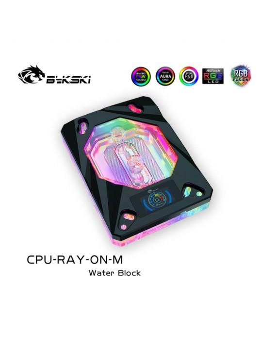 Bykski Waterblock AMD CPU-RAY-ON-M Black D-RGB Bykski - 1