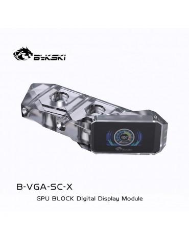 Bykski GPU Terminal con schermo LCD e Sensore di Temperatura - Clear - Acrilico - B-VGA-SC-X