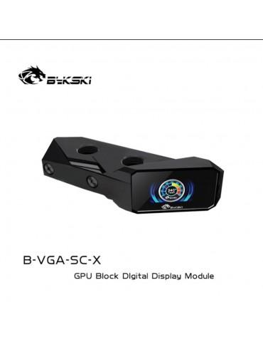 Bykski GPU Terminal con schermo LCD e Sensore di Temperatura - Black - POM - B-VGA-SC-X