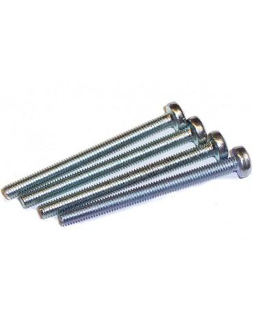 VITE  lunghezza 35mm passo M3x40 testa cilindrica  acciaio zincato (4pcs)
