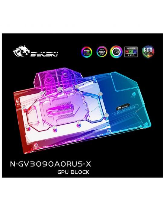 Bykski Waterblock GPU Gigabyte AORUS 3080/3090 (incl. Backplate) N-GV3090AORUS-X Bykski - 1