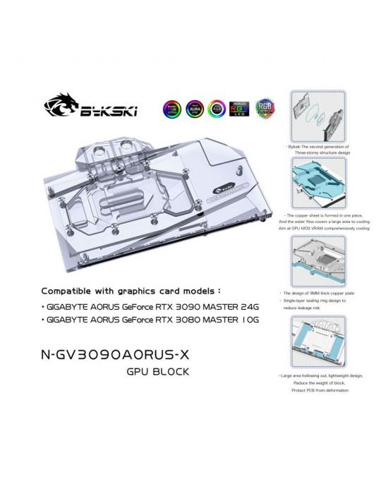 Bykski Waterblock GPU Gigabyte AORUS 3080/3090 (incl. Backplate) N-GV3090AORUS-X Bykski - 3