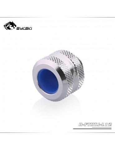 Bykski Raccordo per tubo rigido 12mm anti-sfilamento - Silver- B-FTHTJ-L12