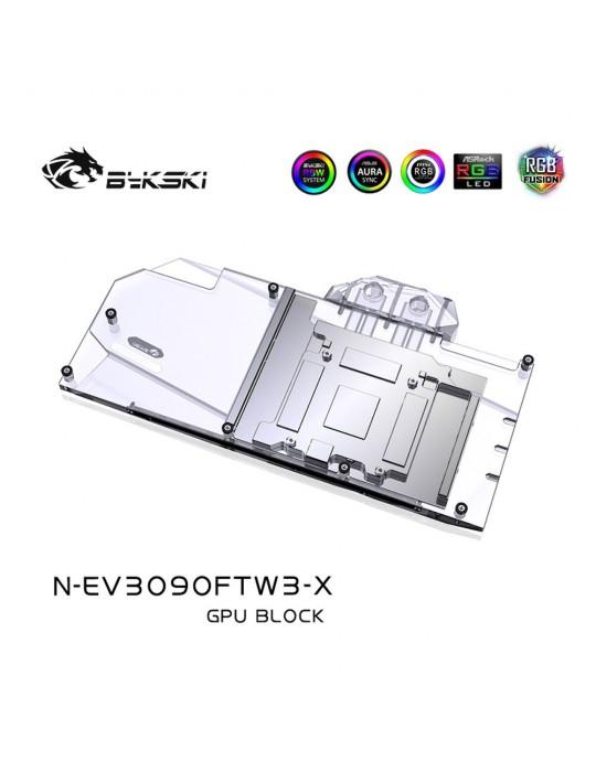 Bykski Waterblock GPU EVGA FTW3 3090 / 3080 (incl. Backplate) N-EV3090FTW3-X Bykski - 3