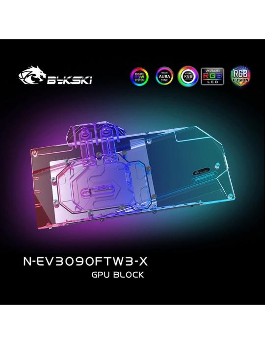 Bykski Waterblock GPU EVGA FTW3 3090 / 3080 (incl. Backplate) N-EV3090FTW3-X Bykski - 5